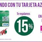 Suburbia: 15% En Cupones al Pagar con Tarjeta Azteca