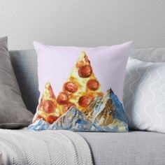 Pepperoni Pizza Peaks Throw Pillow Case Personalized Pillow Cases, Custom Pillow Cases, Throw Pillow Cases, Custom Pillows, Pillow Covers, Throw Pillows, Old Pillows, Guest Room Decor, How To Make Pillows
