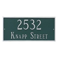 Montague Metal Products Classic Rectangle Large Two Line Address Plaque Finish: Gray/White