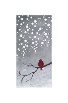 Original Abstract Landscape painting of Sparrow- Gallery Canvas by Little Sparrow Gallery via Etsy. Christmas Canvas, Christmas Paintings, Christmas Art, Xmas, Abstract Landscape Painting, Landscape Paintings, Image Clipart, Paint And Sip, Winter Art