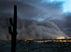 Dust storm over Phoenix, July 2011.