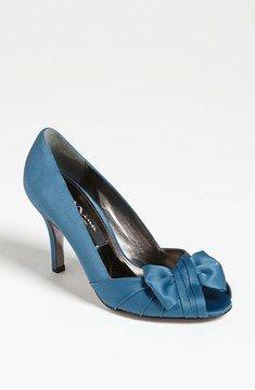 Nina 'Forbes' Peep Toe Pump on shopstyle.com