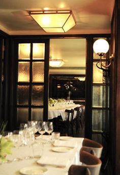 A spacious and comfortable space, the Large Private Dining Room seated) features a large oval table, beautiful oak panelling, and windows overlooking William IV Street. Covent Garden, Hen Nights, Private Dining Room, Oval Table, London Food, Brunch, Pretty Cool, Places To Eat, Parisian