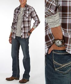 'Plaid Mood' #buckle #fashion www.buckle.com