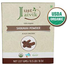 Just Jaivik 100% Organic Shikakai Powder - Certified Organic by OneCert Asia , 227 gms / 1/2 LB Pound / 08 Oz - Acacia Concina - (AN USDA Organic Herb) * Continue @
