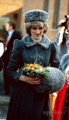 Princess Diana visiting the Kings Troop Royal Horse Artillery in London on 1985