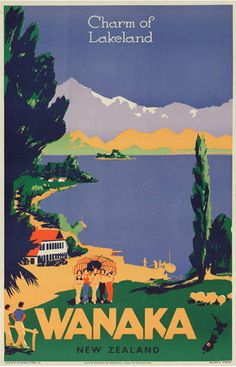 Check out Vintage Poster of Wanaka New Zealand at New Zealand Fine Prints