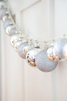 Silver Ornament String