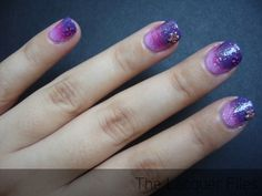 ombre and flower crystal