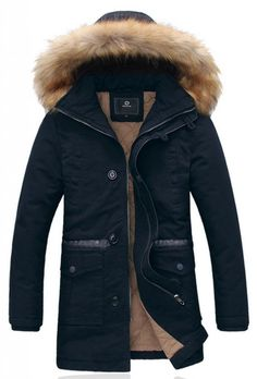 Wantdo Men's Winter Thicken Cotton Jacket With Fur Hood Our registered brand to USPTO: Wantdo. Detachable fur hood, keep your head from the cold wind. Mens Winter Coat, Winter Jackets, Mens Down Jacket, Men's Jacket, Mens Overcoat, Korean Fashion Men, Men's Leather Jacket, Cotton Jacket, Coat Styles