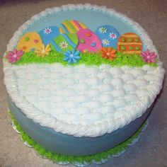 Easter basket cake cakescupcake decorating ideas pinterest easter basket cake negle Gallery