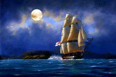 Barco en alta mar