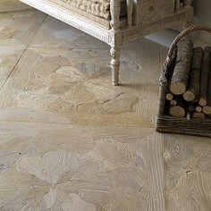 wood inlay parquet floor