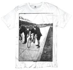 Bikepunk Tshirt of Vintage Track Cyclist