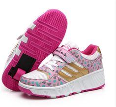 31.98$  Buy here - https://alitems.com/g/1e8d114494b01f4c715516525dc3e8/?i=5&ulp=https%3A%2F%2Fwww.aliexpress.com%2Fitem%2FChild-heelys-Jazzy-Junior-girls-boys-heelys-roller-skate-shoes-for-children-kids-sneakers-with-wheels%2F32660992647.html - Child wheels shoes Jazzy Junior girls boys roller skate shoes for children kids sneakers with wheelies EU size 29-43
