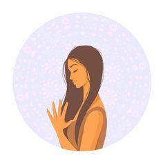 slowlife Yoga Cartoon, Cartoon Kids, Girl Cartoon, Color Vector, Vector Art, Gyan Mudra, Lotus Pose, Nature Vector, Studio Cards
