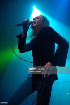 Photo of Ronnie DIO and DIO; Ronnie James Dio performing live on stage at the Elserhalle