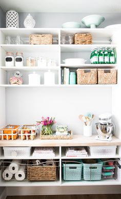 Pantry and closet goals.  Getting organized.