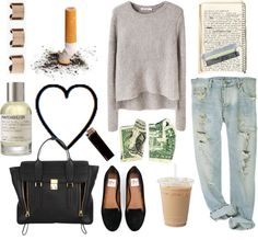 """""""for that cute date at the coffee shop down the street"""" by oliviaakohn ❤ liked on Polyvore"""