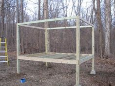 Chicken House - Frame set on piers