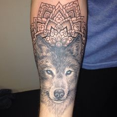 love this!!! #wolf #mandala #tattoo