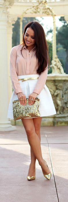 Zappos Gabriella Rocha Sophey White Skirt By Stylish Petite