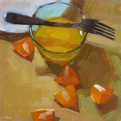 """Orange and Juice"" - Original Fine Art for Sale - © Carol Marine"