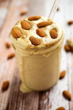 Almond Butter Maca Madness Smoothie #glutenfree # vegan