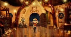 Love the look of this house  kitsunetoneko:  Song of The Sea: Owl Witch house