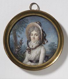 Marie Gabrielle Capet, 1761-1818 Portrait of Stéphanie Félicité Ducrest de St-Aubin, 1746-1831, nee de Genlis, Stockholm, National Museum