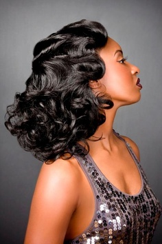 1930's inspired fingerwaves and curls.