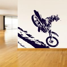 Wall Vinyl Sticker Decals Decor Motocross Bike Dirty Moto Bike GP Sport (z759)