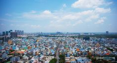The vibrant Ho Chi Minh City in aerial perspective Aerial Images, Ho Chi Minh City, Southeast Asia, San Francisco Skyline, Perspective, Dolores Park, Communication, Vibrant, Gallery