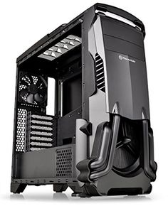 Thermaltake Versa Black ATX Mid Tower Gaming Computer Case Chassis with Power Supply Cover, Rear Fan preinstalled. Computer Build, Computer Case, Gaming Computer, Computer Basics, Computer Setup, Gaming Setup, Gaming Desktop, Desktop Computers, Usb