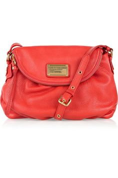 marc jacobs handbags | Marc by Marc Jacobs Natasha coral leather bag | All Handbag Fashion