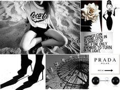 """""""Black And White"""" by fashionistacity on Polyvore"""