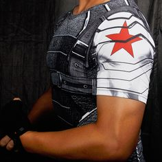 Who knew Bucky Barnes also rocked short sleeve too? :) Item Type: Tops Tops Type: Tees Pattern Type: Print Sleeve Style: normal sleeve Style: Fashion Brand Name: None Fabric Type: Broadcloth Hooded: N