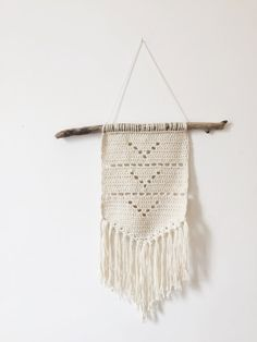 Handmade Crochet Wall Hanging Wall Decor Boho Chic Wall Art Macrame Aztec…