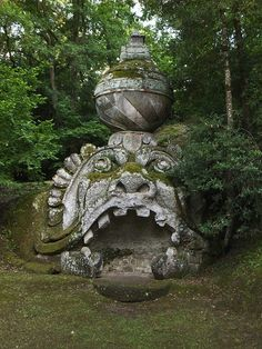The 16th-century garden of monsters at Bomarzo, Italy.