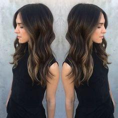 New Hair Highlights Brown Dark Ideas Hair Color And Cut, Hair Color Dark, Fall Hair, Balayage Hair, Haircolor, Hair Today, Pretty Hairstyles, Formal Hairstyles, Wedding Hairstyles