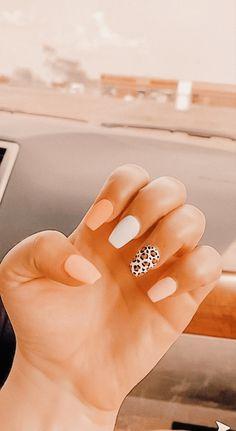 Cute Gel Nails, Short Gel Nails, Acrylic Nails Coffin Short, Simple Acrylic Nails, Summer Acrylic Nails, Best Acrylic Nails, Cute Simple Nails, Cute Simple Nail Designs, Summer Nails
