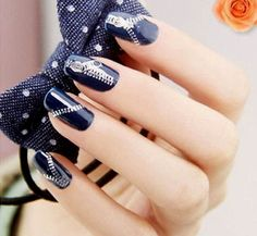 Nail Stickers Zippers Sliver Nail Art Water Transfers by EuStore