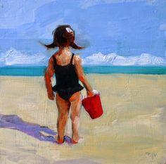 Debbie Miller Painting: Little Beach Bum 07145
