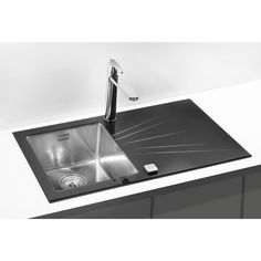 Available in any colour of your choice. Made of beautiful, easy to clean toughened glass. Stunning feature in your kitchen, great in combination with same colour splashbacks, fridges, cabinets etc. Glass Kitchen, Kitchen Sink, Red Glass, Black Glass, Inset Sink, R White, Stainless Steel Material, Bespoke Design, Pop Up