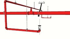 3D Model of Fire Protection Piping, Sprinklers, Hangers & Seismic