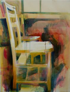 Coloured Chairs #7 oil on canvas 71x92cm