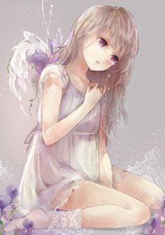 Anime - Sweet Little Angel - love her socks!