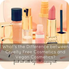 What's the Difference Between Cruelty Free Cosmetics and Vegan Cosmetics? - Logical Harmony