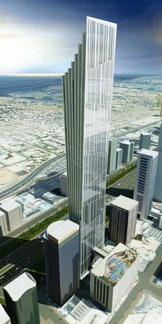 P 17 Tower, Dubai by Atkins Architects :: 78 floors, height 379m #architecture #highrise