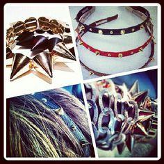 spikes headband bracelet